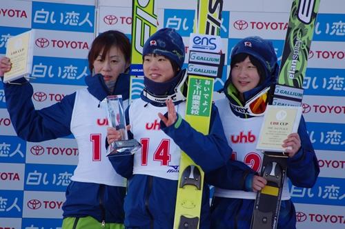 女子組表彰式